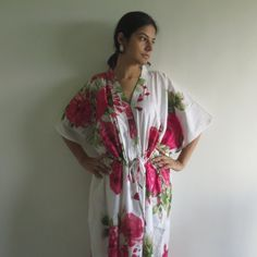 Buttoned Kaftan made from E9 Fabric Pattern