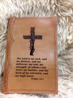 Laser Engraved Handcracfted Full Leather Bible Cover by MyBrandedCreations on Etsy
