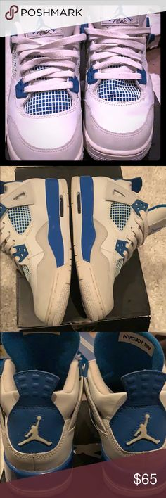 Jordan retro cement 4s Military blue retro Jordan 4s worn. Comes with box Jordan  Shoes 24cc200e9