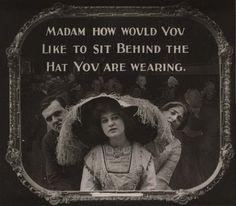 1910's-era movie theater etiquette Public Service Announcement