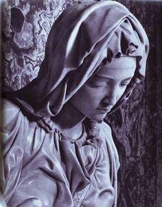 "Michelangelo's ""Pieta,"" detail."