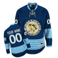 5131b0a5e Pittsburg Penguins Customized blue Your Name Number