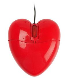 red heart shaped computer mouse #HTCOneRed