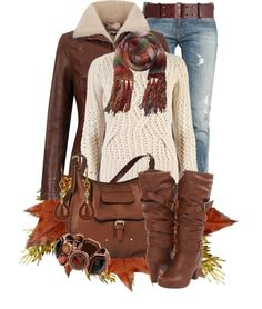 """""""Sweater and Jeans"""" by jackie22 ❤ liked on Polyvore"""