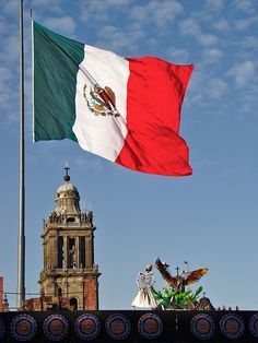Bandera de Mexico - Flag of #México