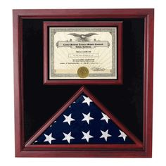 The Extra Large flag display case is for that special person in your life who has recently returned home from the armed forces, be it finished tour of duty or home on leave, for any retired war veterans in your family, or to respectfully and lovingly pay tribute to the brave and fallen heroes of your family, this elegant cherry flag and document display case makes the perfect gift for birthdays, holidays, Veterans Day or Memorial Day. Made of durable cherry wood and protected with a glossy…