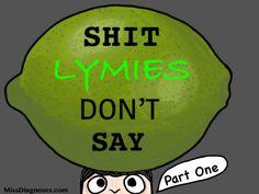 """""""Shit Lymies Don't Say"""" blog header image"""