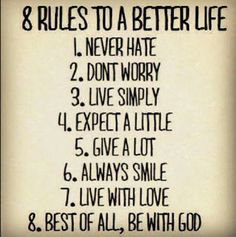 """8 Rules To A Better Life"" (Christian Goth)"