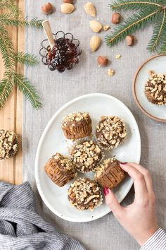 These soft, moist, easy banana nut muffins are made with almond flour in one bowl, loaded with banana flavor and studded with walnuts for a little crunch. #almondflourmuffin #banananutmuffin #healthybaking #glutenfree #gfmuffin #foolproofliving