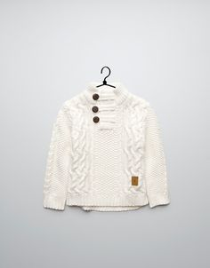 high-neck, cable knit sweater - Cardigans and sweaters - Baby boy (3-36 months) - Kids - ZARA