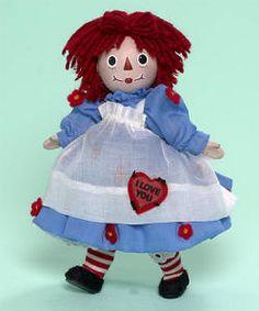 "8"" I Love You Raggedy Ann   Porcelain"