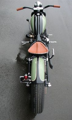 Beauty in symmetry: a '45 flathead Harley-Davidson custom.