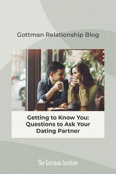 In a dating relationship, getting to know each other is key. Every date, text, call, and interaction has the potential for you both to discover more about each other's inner worlds. Spark deeper conversations with these conversation starters from our Gottman Relationship Blog. Conversation Topics For Couples, Conversation Starters, Dating Relationship, Relationships, Gottman Institute, John Gottman, Meaningful Conversations, Questions To Ask, Getting To Know You