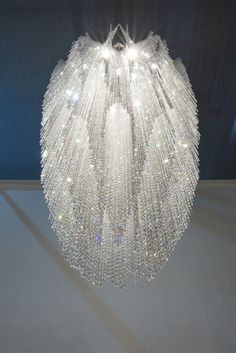 Contemporary chandelier / crystal / stainless steel / LED - BURJ - Manooi