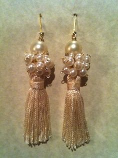 anthro inspired tassel earrings