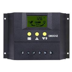 Anself PWM Solarlade Regler Solar Panel Batterie Regulator mit LCD Display 30A…