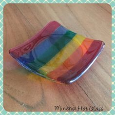 About the seller: This stunning item has been hand crafted and fused in Devon by Minerva Hot Glass.  Minerva Hot Glass is run by mother and