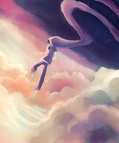 weenie-kun:  i love drawing john in a bunch of clouds ok