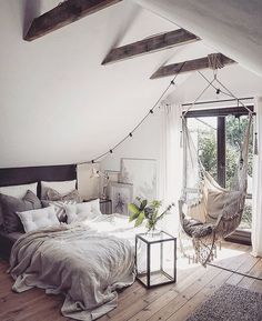 note: natural wood floor and beams, off white walls and ceiling...