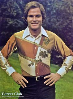 1978 Men's Fashion Advertisement Vintage 1970s Menswear 4 Career Club Polyester Shirt | Flickr - Photo Sharing!
