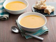 Easy butternut squash soup!  I use veggie broth and add sage & thyme from my garden. I also give it two shakes of pumpkin pie spice.  Wear gloves when peeling squash.