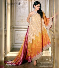 Gul Ahmed Trencia Satin Silk Festive Collection 2015 SS-53