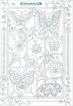 Wow Butterflies Patron BordarIndonesia Embroidery Pattern