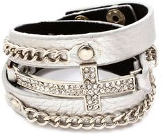 Cross and Chain Wrap Bracelet More Colors