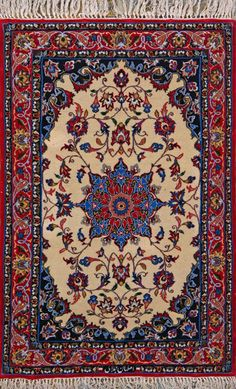 Esfahan Persian Rug 2 4 x 3 7, Authentic Persian Rug $1,260.00