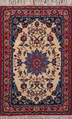 Esfahan Persian Rug, Buy Handmade Esfahan Persian Rug 2 4 x 3 7, Authentic Persian Rug $1,260.00