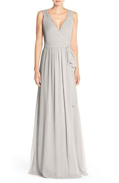(In TINY DANCER/BOHEMIAN RHAPSODY) CeremonybyJoanna August'Newbury' Gathered Sleeve Chiffon Wrap Gown available at #Nordstrom