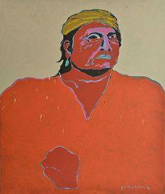 American Indian Portrait Artists | artnet Galleries: Untitled (Indian Portrait) by Fritz Scholder from ...