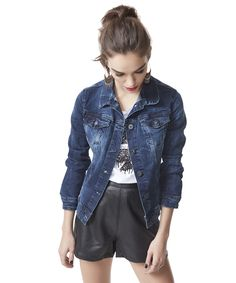 Jaqueta Jeans Replay Azul Escuro - cea - R$ 159,99
