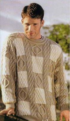 "Men's Hand Knit Sweater. Premium Quality Yarns. Any Sizes and Any Colors. Made by KnitWearMasters: 1000's of Satisfied Customers, World Class Hand Knit Products.  MADE-TO-ORDER MODEL - Material: Wool - Production time: 3-4 weeks HOW TO ORDER: 1.Choose size ( see ""Size Chart"" for help) 2.Choose a color (see Yarn's Color"