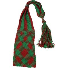 Georgian 18th Century Sprang Knitted Netted Silk Long Purse Stocking Purse English 1790's This is a wonderfully vibrant example of a 1790 period long