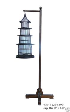 Chinese Hanging Pagoda Shape Bird Cage Display $960 eBay