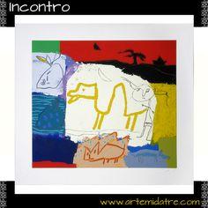 """Incontro"" Serigrafia Cm 70x77,5 per andare a colpo sicuro ➜ http://www.artemidatre.com/ ● #Arte #Art #GianfrancoAsveri #Asveri #Colore #Arredamento #DesignModerno #Lusso #Serigrafia #Ornamento #Quadro #idea #lusso #Design #OperaArte #casamoderna #interni #gallery #artgallery #appartamento ●"