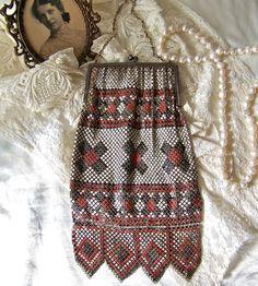 Antique Mesh Bag Whiting and Davis Original by cynthiasattic