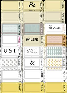 Journaling tickets/tags.