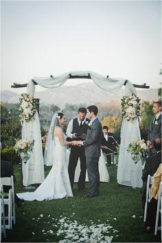 Creating a #ceremony backdrop is a great way to have a bold entrance at your wedding