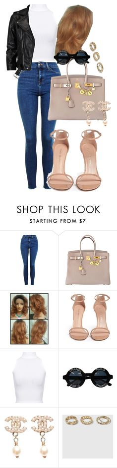 """""""Parisienne Moderne."""" by fakeeblondie ❤ liked on Polyvore featuring Topshop, Hermès, Stuart Weitzman, WearAll, Chanel, VIPARO and modern"""