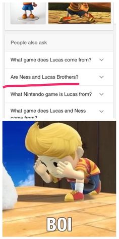 Lucas looked it up and got a psi ptsd attack from this question Nintendo Characters, Nintendo Games, Video Game Music, Video Games, Mother Games, Super Smash Bros Memes, Clean Memes, Otaku, Gaming Memes