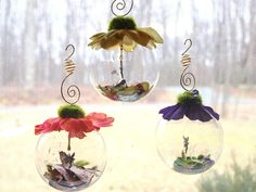 Fairy glass globe orb, glass ball, Fairy ornament, whimsical, enchanted, hang in a window or put on a desktop, Birthday MADE TO ORDER. $14.99, via Etsy.