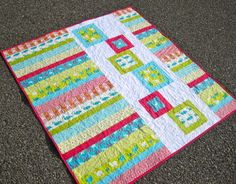 No instructions for this plan as you sew quilt made from a fat quarter bundle. But I'm certain you stashbusters can pull out some swapped blocks, orphan blocks or spare parts along with some yardage and create something you love.