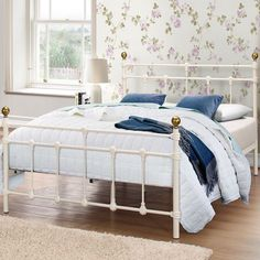 Alexandre Metal Bed Frame - Luxury Leather Beds - Beds.co.uk - The Bed Outlet