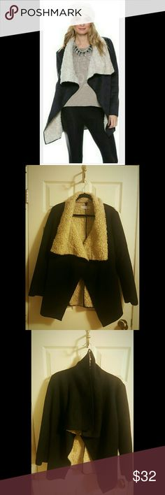Glamorous Shearling Jacket Stay cozy during the cold season in boho-chic style with this comfy jacket boasting a faux shearling lining for chill-chasing warmth. Like new. Glamorous Jackets & Coats