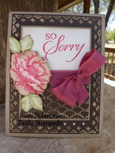 So Sorry Blossom by junior tx - Cards and Paper Crafts at Splitcoaststampers