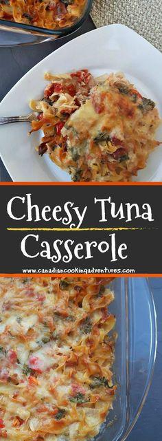 Cheesy Tuna Casserole #tuna #cheese #casserole