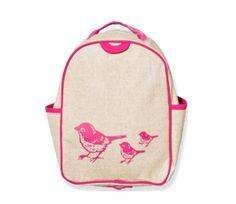 So Young Grade School Backpack – Pink Birds