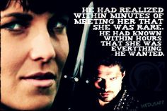 He had realized within minutes of meeting her that she was rare; he had known within hours that she was everything hewanted.   Xena warrior princess and Ares God of war Lucy Lawless, Kevin Smith Obsession,  love quote